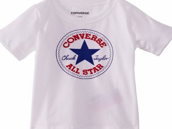 Converse 11545310 Baby Boys T-Shirt Bright White 18 Months