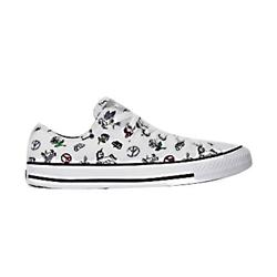 converse all glitter ox shoes white review