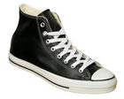 Converse All Star Hi Black Leather Trainers
