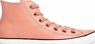 Converse All Star Hi Leather Trainers Pink Blush Fur Black - 6 UK