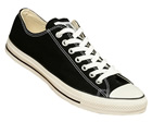 All Star OX Black Canvas Trainers