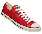 All Star OX Red Canvas Trainers