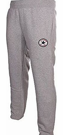 Converse  Chuck Patch Mens Cuffed Fleece Tracksuit Pant Grey, L