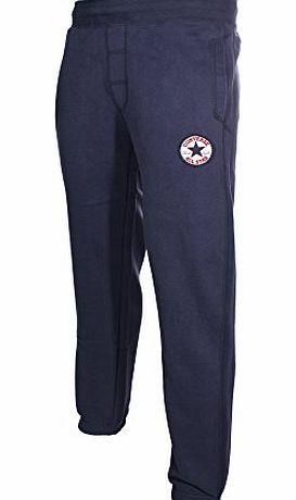 Converse  Chuck Patch Mens Cuffed Fleece Tracksuit Pant Navy Blue, L