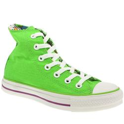 Male Converse All Star Down Hi Fabric Upper in Green