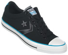 Star Player EV OX Black Canvas Trainers