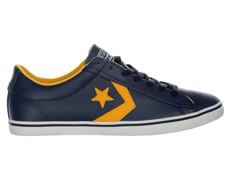 Converse Star Player Lo Pro Navy/Yellow Leather