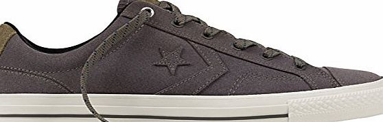Converse Star Player Premium Leather Ox Trainers Grey 10 UK