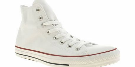 White All Star Hi-Top Trainers