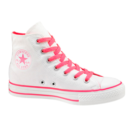 Converse Chuck Taylor All Star White/ Neon Pink