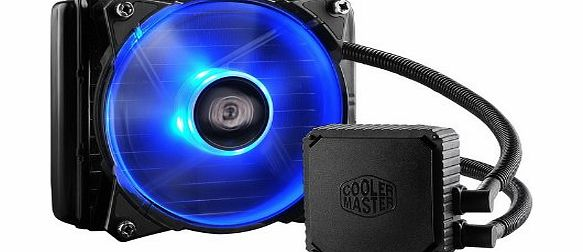 CoolerMaster CPU Radiator Water Cooling Kit System with 120mm Jetflo Smart Blue LED Tower Fan, Liquid Cooling keep PC Case and CPU Cooling - 120