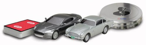 James Bond Casino Royale Aston Martin DB5 and DBS set in film can