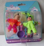 Lil Handfuls Angela and Nichols Small Dolls ( about 2.5` inches tall) by Corgi