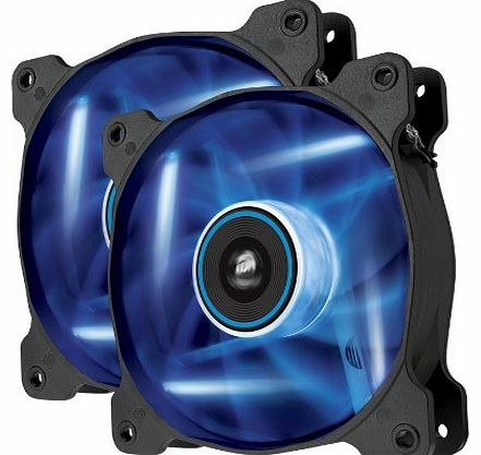 Air Series AF120-LED 120mm Quiet Edition High Airflow LED Fan - Blue (Dual Pack)