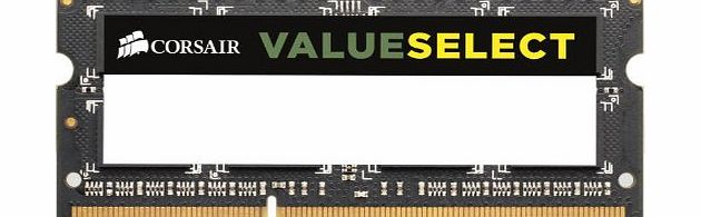 Corsair CMSO16GX3M2A1333C9 Value Select 16GB (2x8GB) DDR3 1333 Mhz CL9 Mainstream Notebook Memory Kit product image