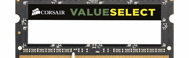 Corsair CMSO4GX3M1A1600C11 Value Select 4GB (1x4GB) DDR3 1600 Mhz CL11 Mainstream Notebook Memory Module product image