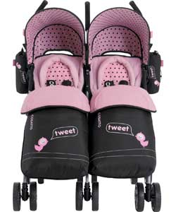 Cosatto You 2 Twin Stroller - Tweet Tweet