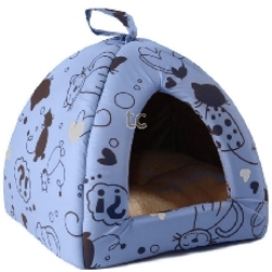 Scatty Cat Igloo Bed - Blue (16``)
