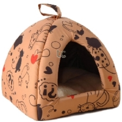 Scatty Cat Igloo Bed:Tan