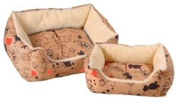 Scatty Cat Kalahari Bed - Tan:Small
