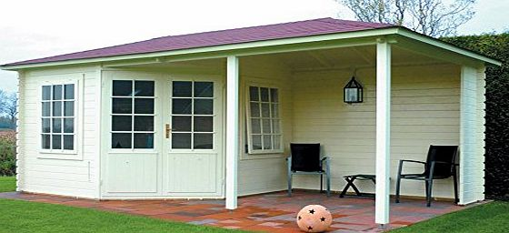 Cotswold Log Cabin, Garden Building, Garden Office, Summerhouse 28 mm 600 x 300 cm.