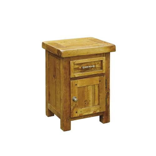 Chunky Pine Right Hinged Bedside Table