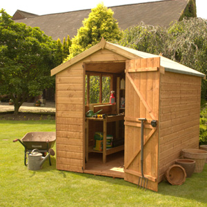 This traditional robust tongue and grooved shed is perfect for storing all your gardening equipment. Its door and windows can be positioned on the left or right depending on location and the door comes with lock and key. - CLICK FOR MORE INFORMATION