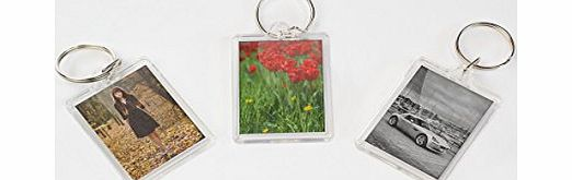 County Pack of 12 Perspex Photo Holder Keyrings