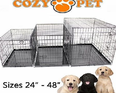 Cozy Pet Dog Cage 36`` Black High Quality Metal Tray Folding Puppy Crate Cat Carrier Dog Crate DC36B. (We do not ship to Northern Ireland, Scottish Highlands amp; Islands, Channel Islands, IOM or IOW.