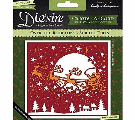 Crafters Companion Diesire Christmas Create-a-Card Metal Die - Over The Rooftops