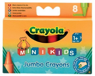 Mini Kids Jumbo Crayons (8 Pack)