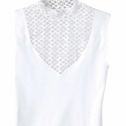 Creation L Lace Panel Sleeveless Top
