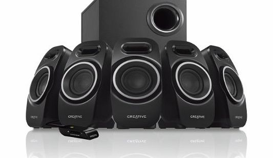 Creative A550 (5.1) Surround Speaker System with Wired Remote Control for Music, Movies and Games product image