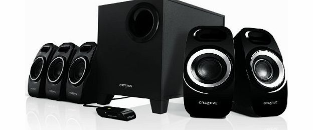 Creative Inspire T6300 (5.1) Surround Speaker System with Wired Remote Control for Music, Movies and Games product image