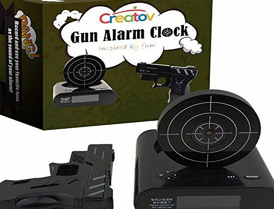 Creatov® Creatov Alarm Clock With Infrared Laser Gun Black