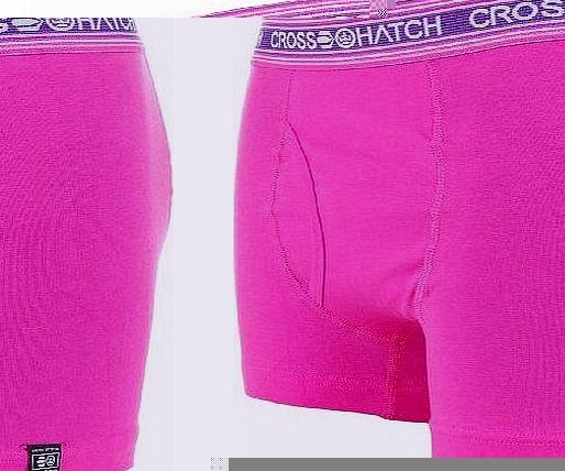 Crosshatch Fireglow Mens Boxer Short Pink L