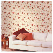 WALLPAPER INDIAN QUILT RED