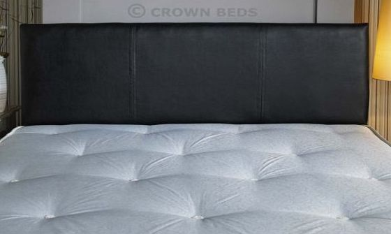CROWNBEDSUK QUALITY FAUX LEATHER HEADBOARD 4FT6 (DOUBLE) (BLACK)