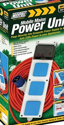 Power hook up for camping