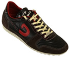 Cruyff Astro Brown/Red Leather Trainers