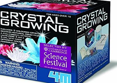 Crystal Growing Kit - Children Teenager Boys Girls - Science Activity Set - Top Selling Christmas Xmas Gift Present Fun Games amp; Toys Idea Age 14
