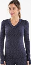 Cuddl Duds, 1297[^]265326 Womens Flexfit Long Sleeve V-Neck - Navy Space Dye