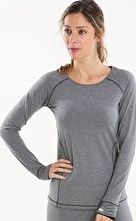Cuddl Duds, 1297[^]265380 Womens Sport Layer Long Sleeve Crew - Graphite