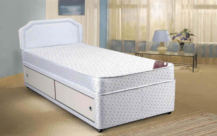 Astral 2ft 6 small single divan bed for Small single divan bed