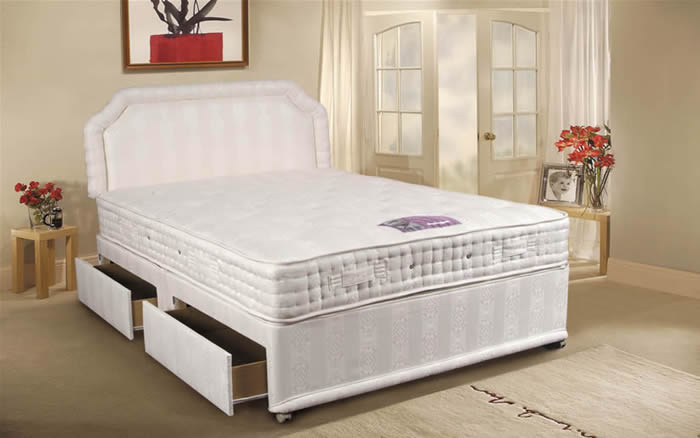 Tranquility deluxe 4ft 6 double divan bed tranquility for 4 foot divan beds for sale