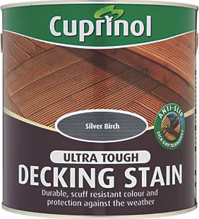 Cuprinol, 1228[^]49404 Anti-Slip Decking Stain Silver Birch