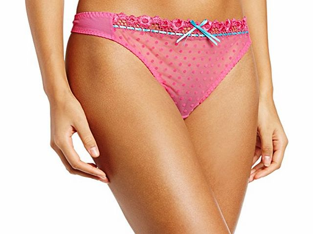 Curvy Kate Womens Princess Thong String, Pink (Cerise/Topaz), Size 14