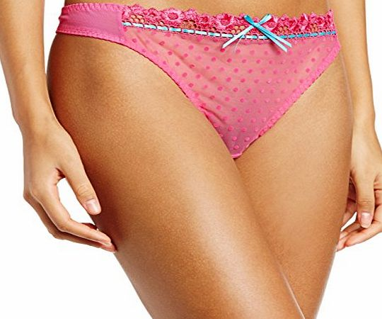 Curvy Kate Womens Princess Thong String, Pink (Cerise/Topaz), Size 16