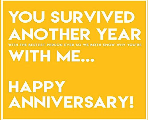 Cwaak Survived Another Year With Me Anniversary Card - Husband, Wife, Boyfriend, Girlfriend