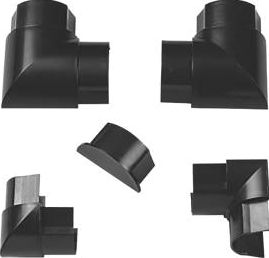 D-Line, 1228[^]45105 TV Trunking Accessory Pack Black 50 x